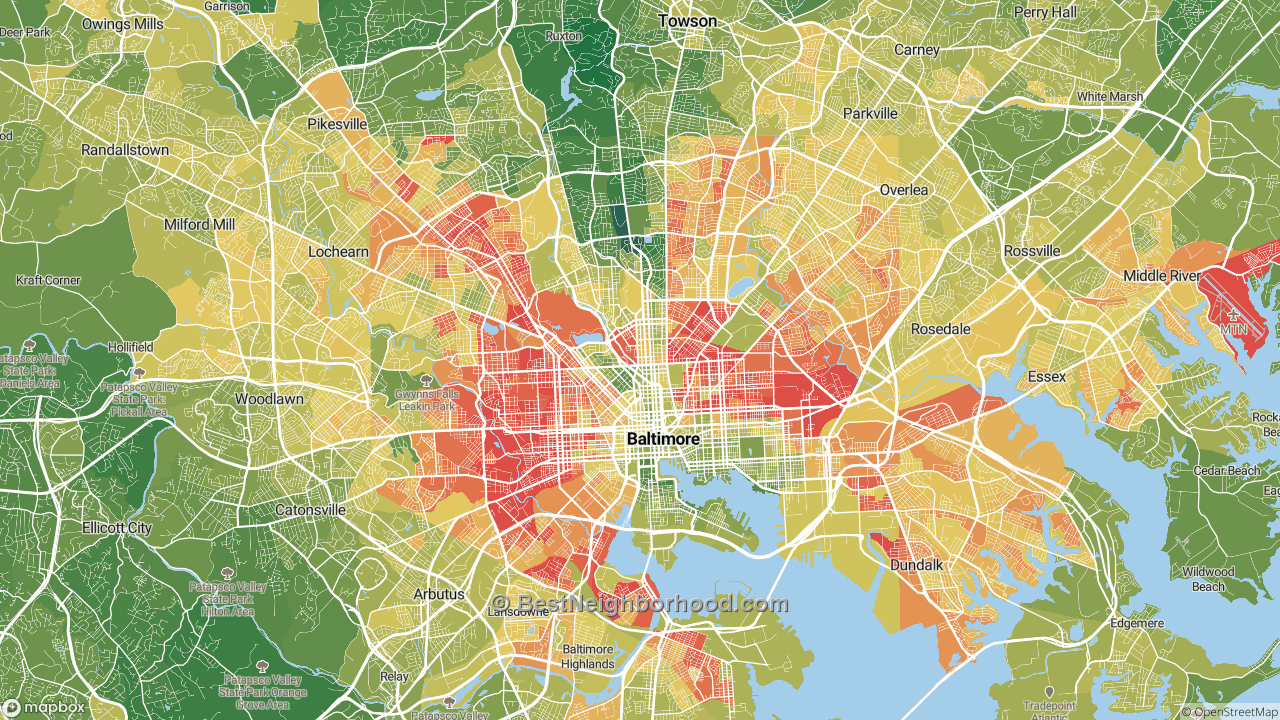 The Best Places in Baltimore, MD by Home Value