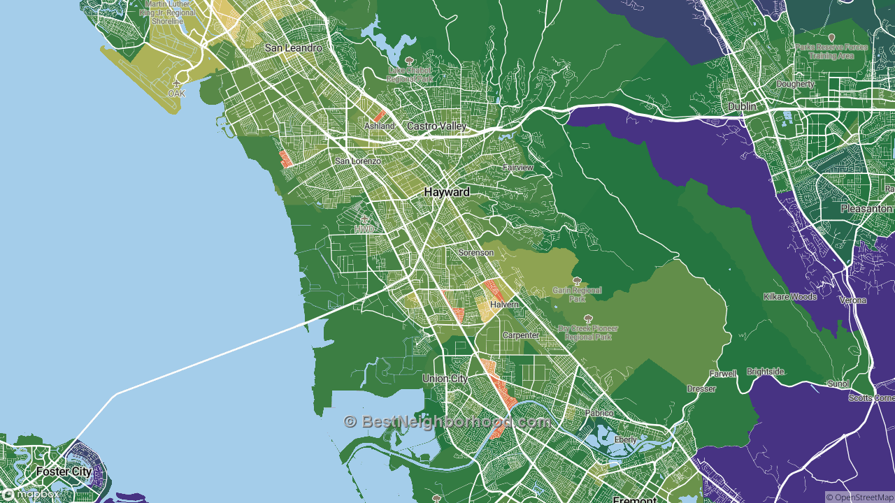 The Best Places in Hayward, CA by Home Value