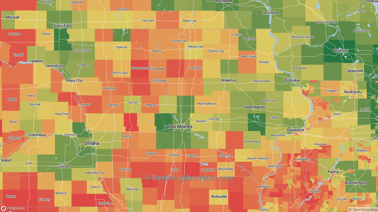 The Best Places in Iowa by Home Value