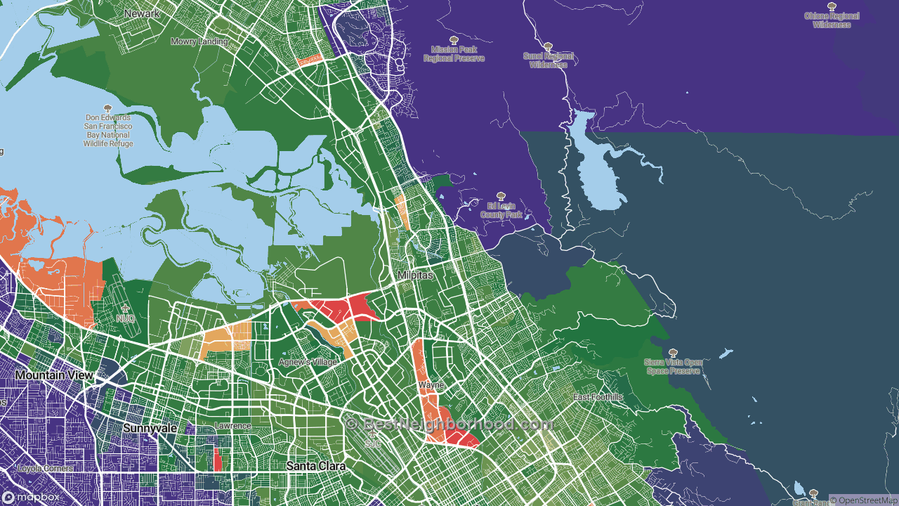 The Best Neighborhoods in Milpitas, CA by Home Value ...