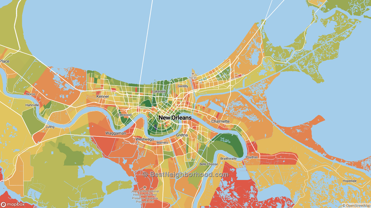 The Best Places in New Orleans, LA by Home Value