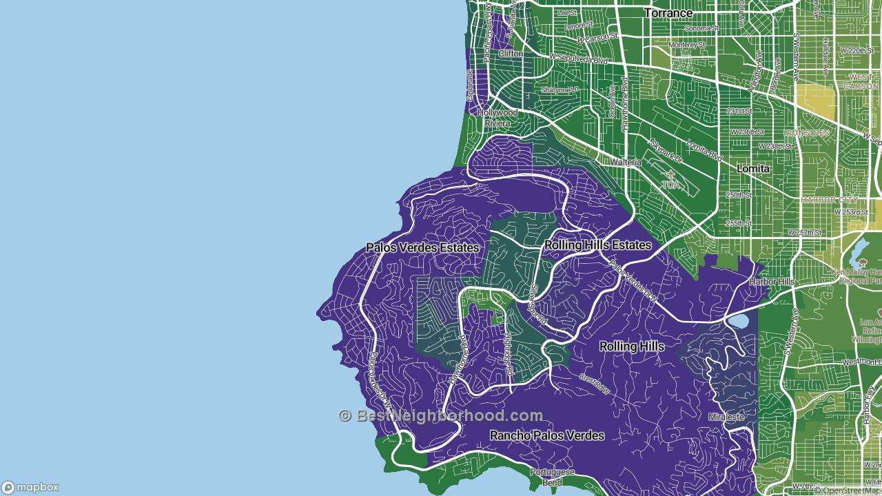 The Best Places in Palos Verdes Estates, CA by Home Value