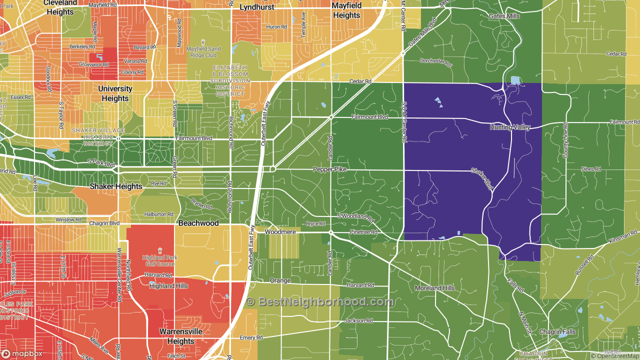 The Best Places in Pepper Pike, OH by Home Value