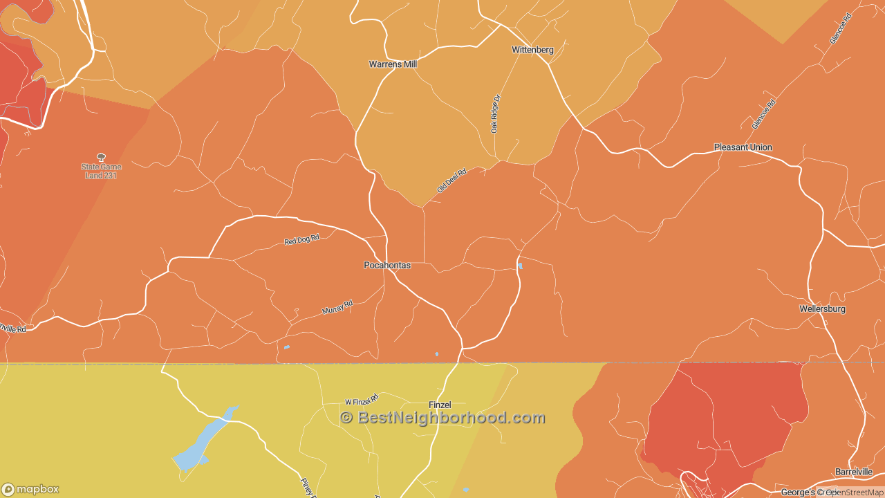 The Best Places in Pocahontas, PA by Home Value