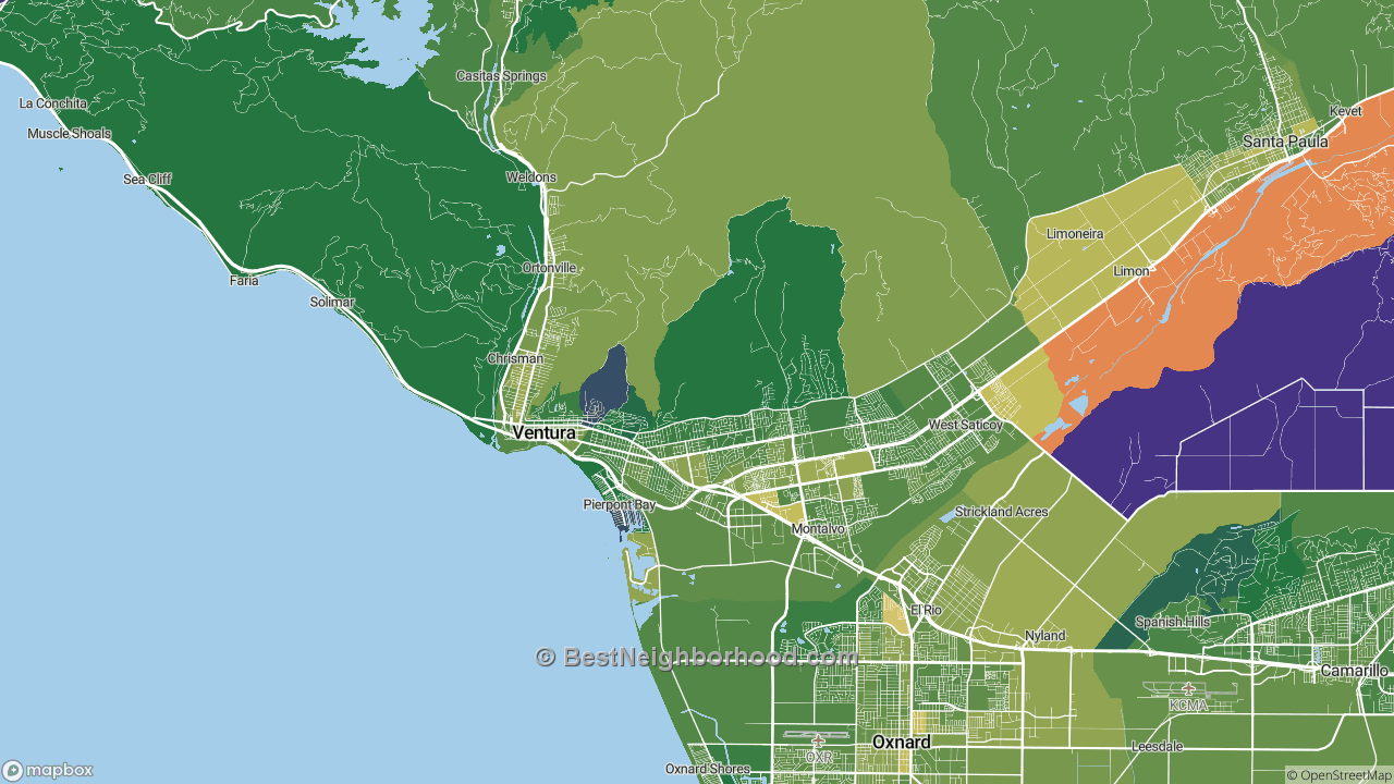 The Best Places in Ventura, CA by Home Value