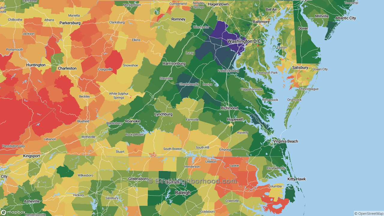 The Best Places in Virginia by Home Value