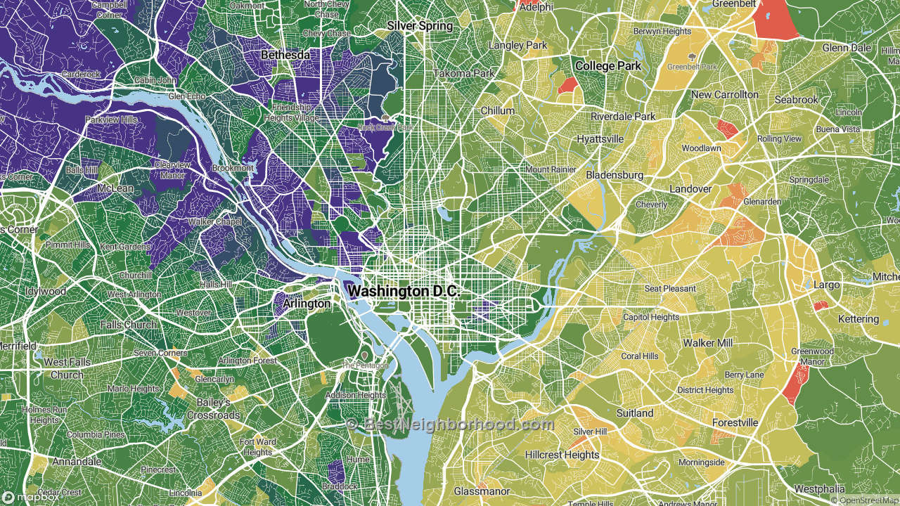 The Best Places in Washington, DC by Home Value