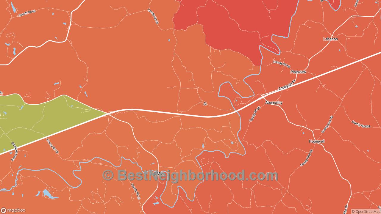 Ai, AL Map of DSL Internet Availability