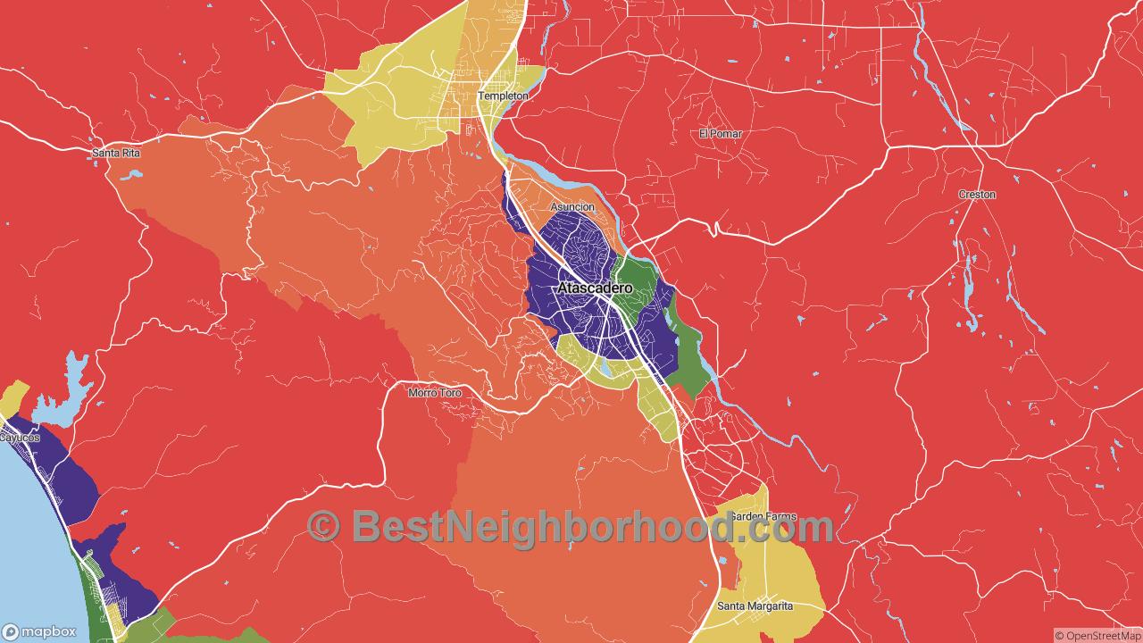 Atascadero, CA Map of DSL Internet Availability