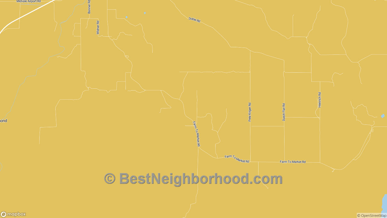 Midvale, ID Map of DSL Internet Availability