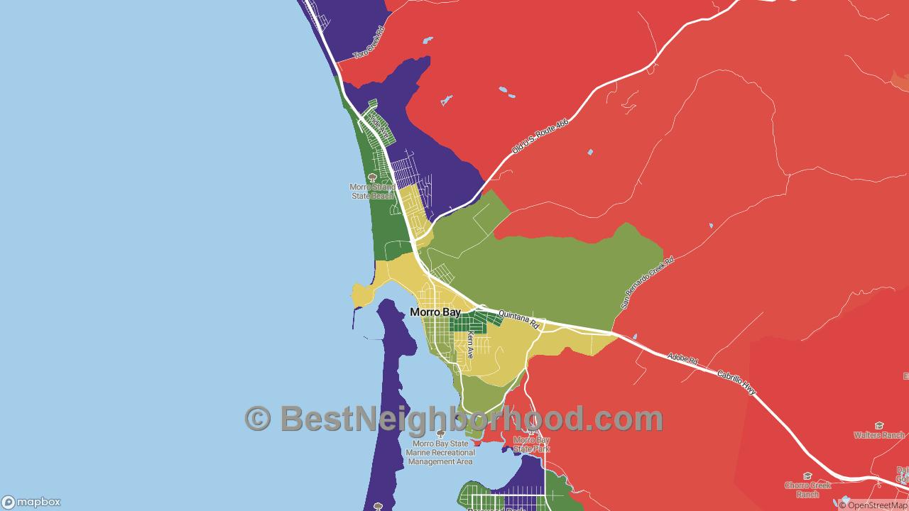 Morro Bay, CA Map of DSL Internet Availability