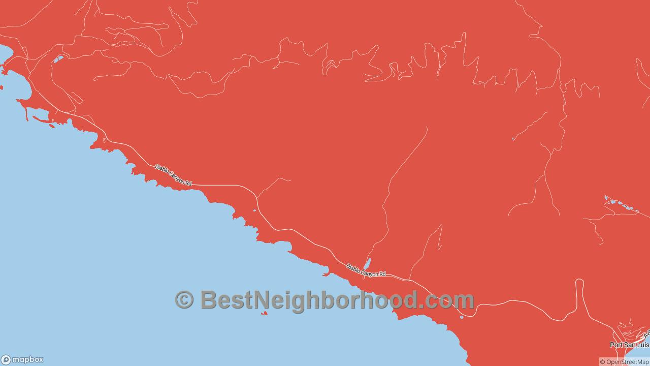 Port San Luis, CA Map of DSL Internet Availability