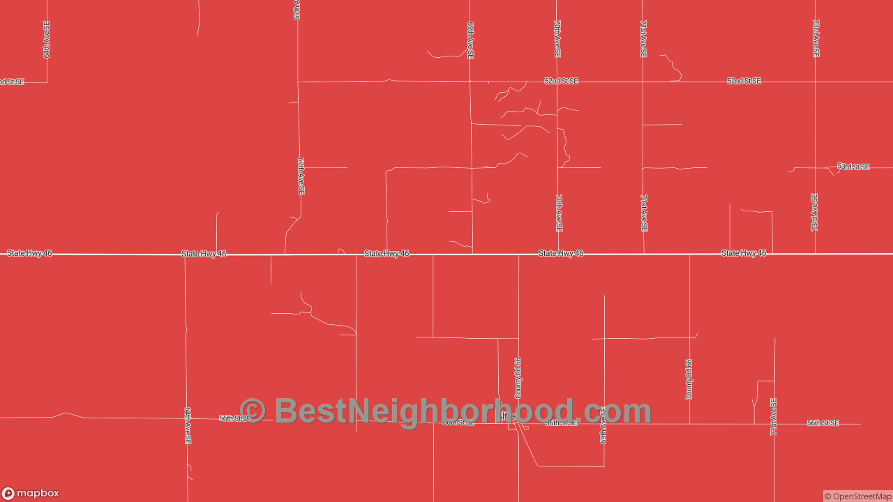 Alfred, ND Map of DSL Internet Speeds
