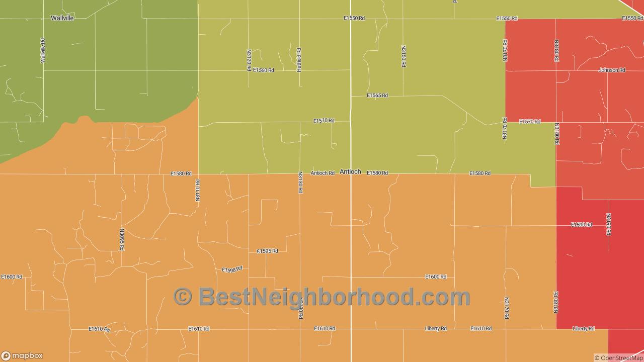 Antioch, OK Map of DSL Internet Speeds