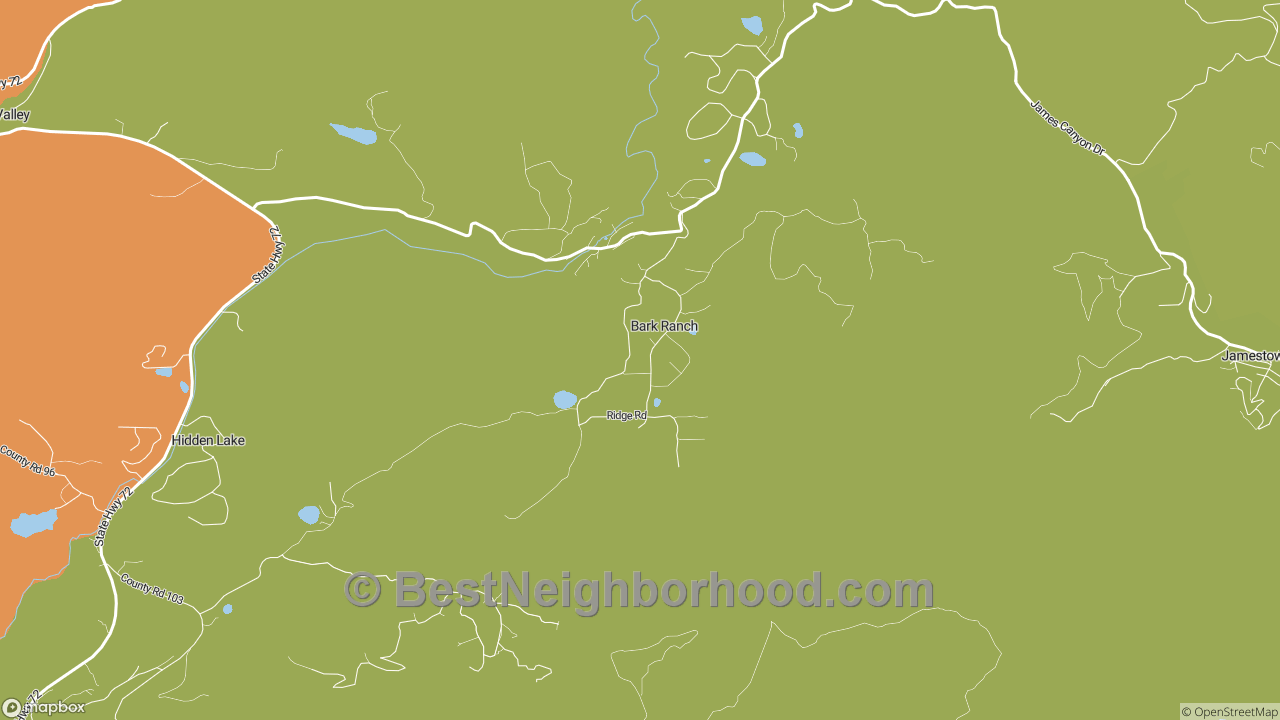 Bark Ranch, CO Map of DSL Internet Speeds