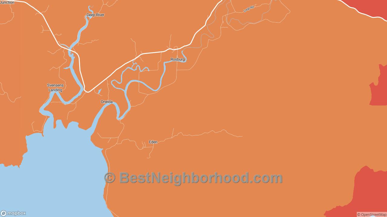 Rosburg, WA Map of DSL Internet Speeds