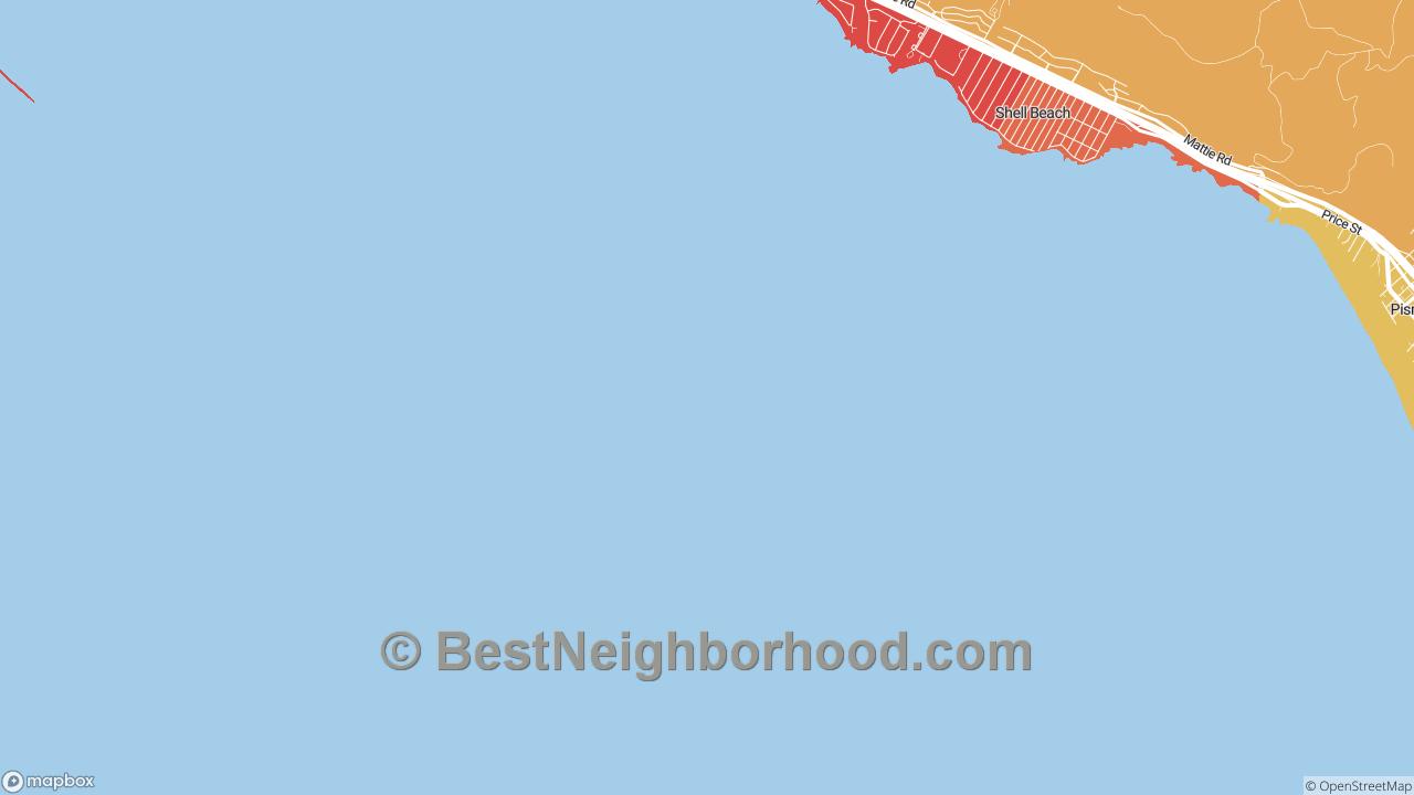 Shell Beach, CA Map of DSL Internet Speeds