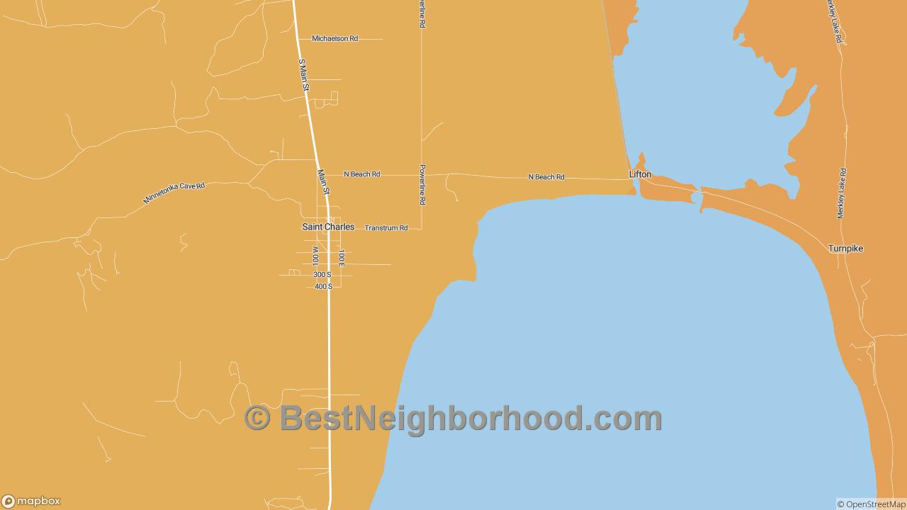 St. Charles, ID Map of DSL Internet Speeds