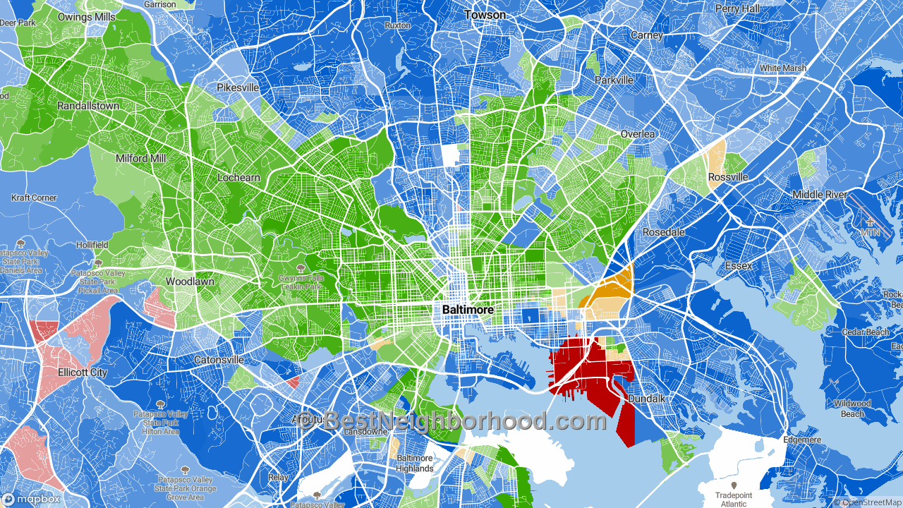 Race Map for Baltimore, MD and Racial Diversity Data ...