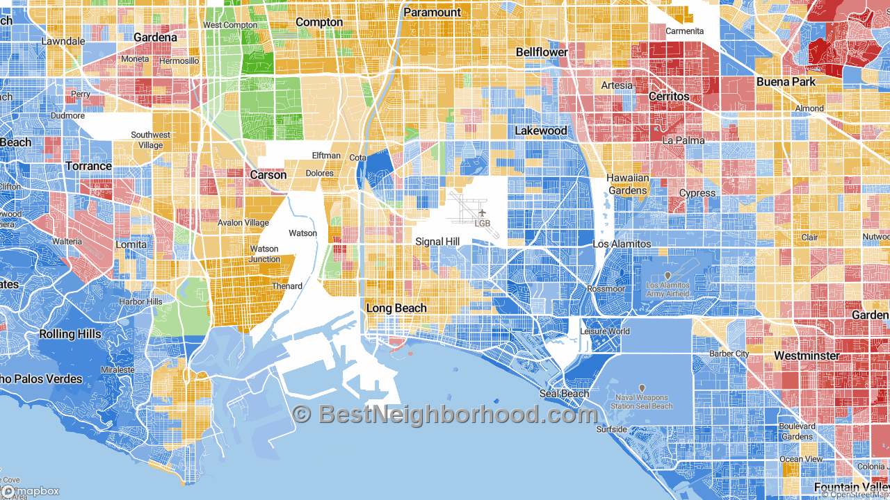 Long Beach, CA Map of Race and Ethnicity
