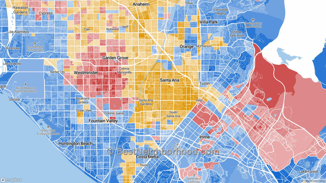 Santa Ana, CA Map of Race and Ethnicity