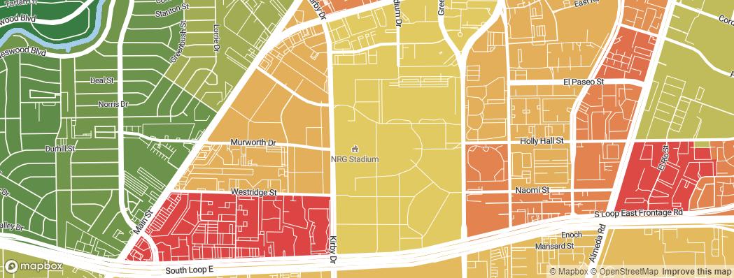 Neighborhoods near the Houston Texans NRG Stadium