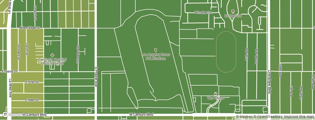 Neighborhoods near the Los Angeles Rams Los Angeles Stadium at Hollywood Park