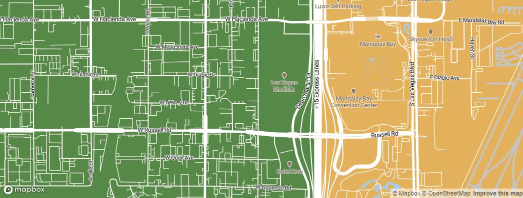 Neighborhoods near the Las Vegas Raiders Las Vegas Stadium