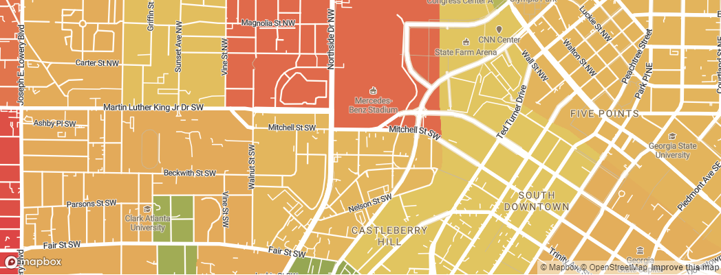 Neighborhoods near the Atlanta Falcons Mercedes-Benz Stadium