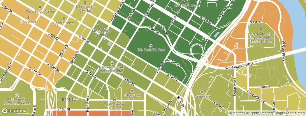 Neighborhoods near the Minnesota Vikings U.S. Bank Stadium