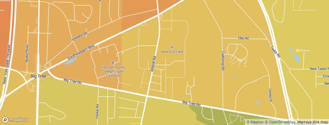 Neighborhoods near the Buffalo Bills New Era Field