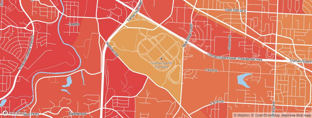 Neighborhoods near the Kansas City Chiefs Arrowhead Stadium